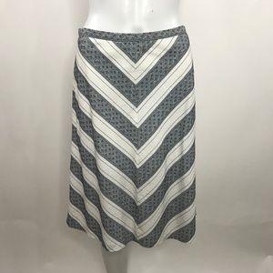 Ann Taylor Loft Petites Patterned Cotton Skirt 4P